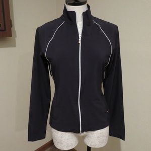 Lucy Activewear full zip track jacket gray white